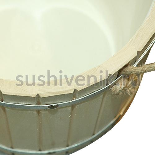 Запарник с пластиковой вставкой для бани и сауны, 10 л