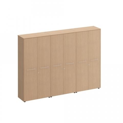 Шкаф комбинированный (закрытый - закрытый - одежда) (274x46x196)