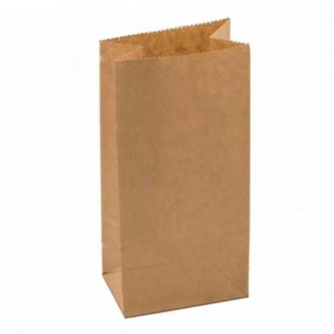 Пакет бумажный крафт, 12*8*25см