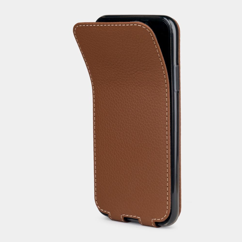 Чехол для iPhone X/XS из натуральной кожи теленка, цвета карамель