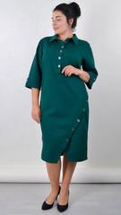 Рио. Изящное платье для пышных женщин. Изумруд.