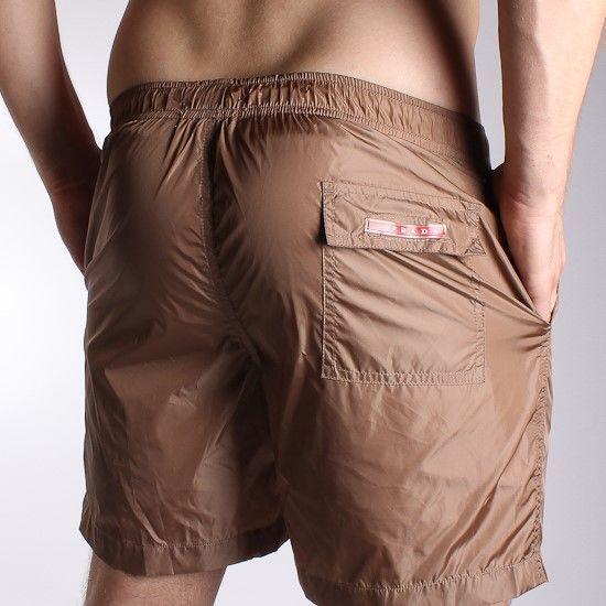 Мужские шорты пляжные коричневые  Prada Milano Classic Shorts