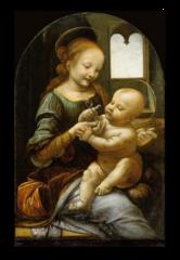 """Репродукция """"Леонардо Да Винчи - Мадонна с ребенком """""""