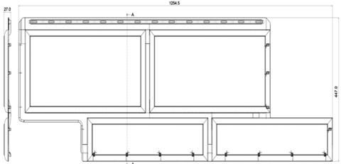 Фасадная панель Альта Профиль Камень флорентийский песчаный 1250х450 мм