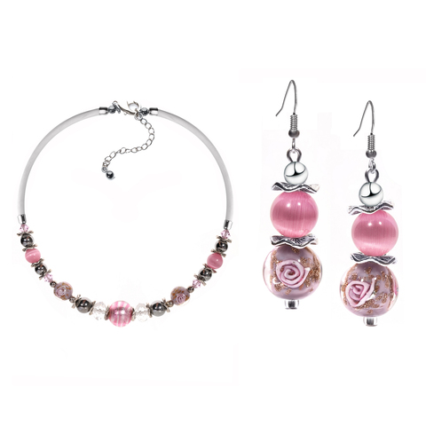 Комплект ожерелье и серьги Eleganza цвет 76004A