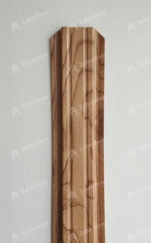 Евроштакетник металлический 85 мм Светлое дерево 3D П - образный 0.5 мм