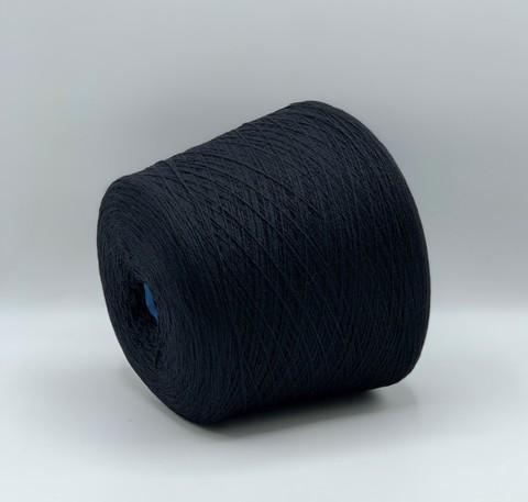 Бобинная пряжа Millefili (пр.Италия), 750 м/100гр,70% меринос  supergeelong 30%кашемир , цвет-Черный,арт.7911