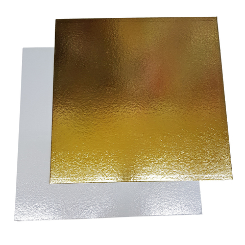 Подложка 28*28 (1,5мм) золото/белый квадрат