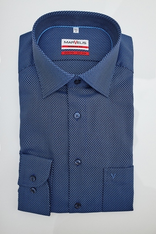 MARVELIS MODERN FIT Сорочка в выработку-плетение, не требующая глажки