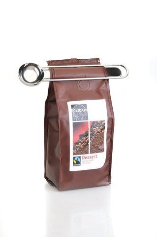 Ложка для кофе с зажимом 17см