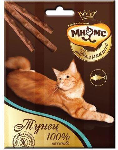 Мнямс Деликатес лакомые палочки для кошек с тунцом
