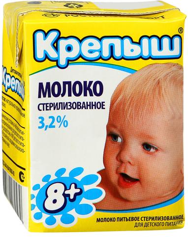 Молоко Крепыш 3.2% стерилка ИП