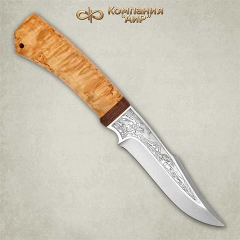 Нож Хазар, АиР, карельская береза, 95х18