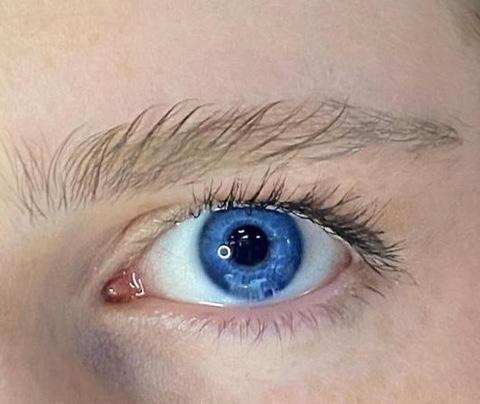 Оттеночные голубые линзы для Светлых глаз Marquise Solo blue