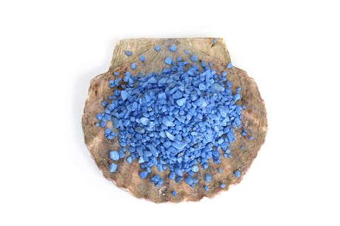 Грунт аквариумный декоративный голубой 0,5, - 0,8 см.