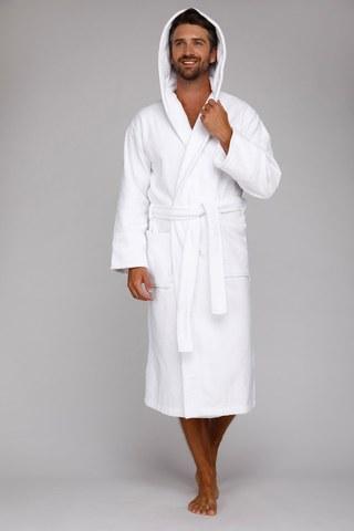 Мужской махровый халат с капюшоном 901