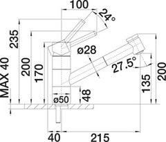 Смеситель Blanco Tivo-S схема