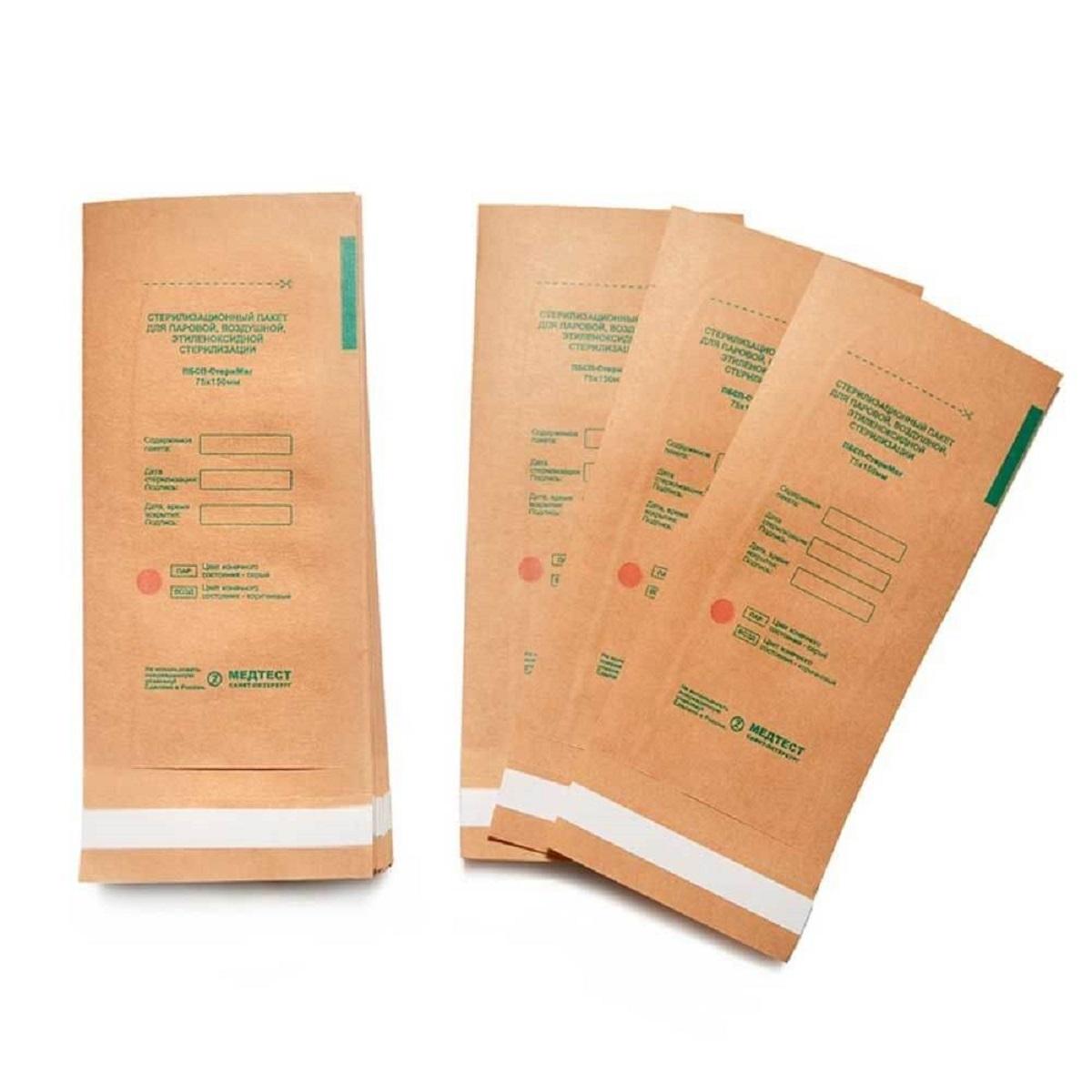 Крафт-пакеты МедТест, Крафт-пакеты для стерилизации, 75*150 мм, (100 шт./уп.) МедТест__Крафт-пакеты_для_стерилизации__75_150_мм___100_шт._уп._.jpg