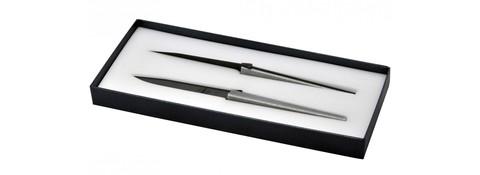 Набор из 2 столовых ножей «Cyril Lignac», Forge de Laguiole, дизайн Jean-Michel WILMOTTE T2 LW 2