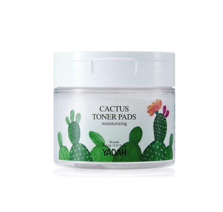 Пэды увлажняющие для лица Yadah Cactus Toner Pads Moisturizing 60 шт