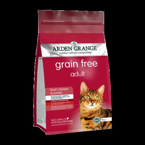 Arden Grange Adult Cat Сухой корм для взрослых кошек Курица и Картофель беззерновой