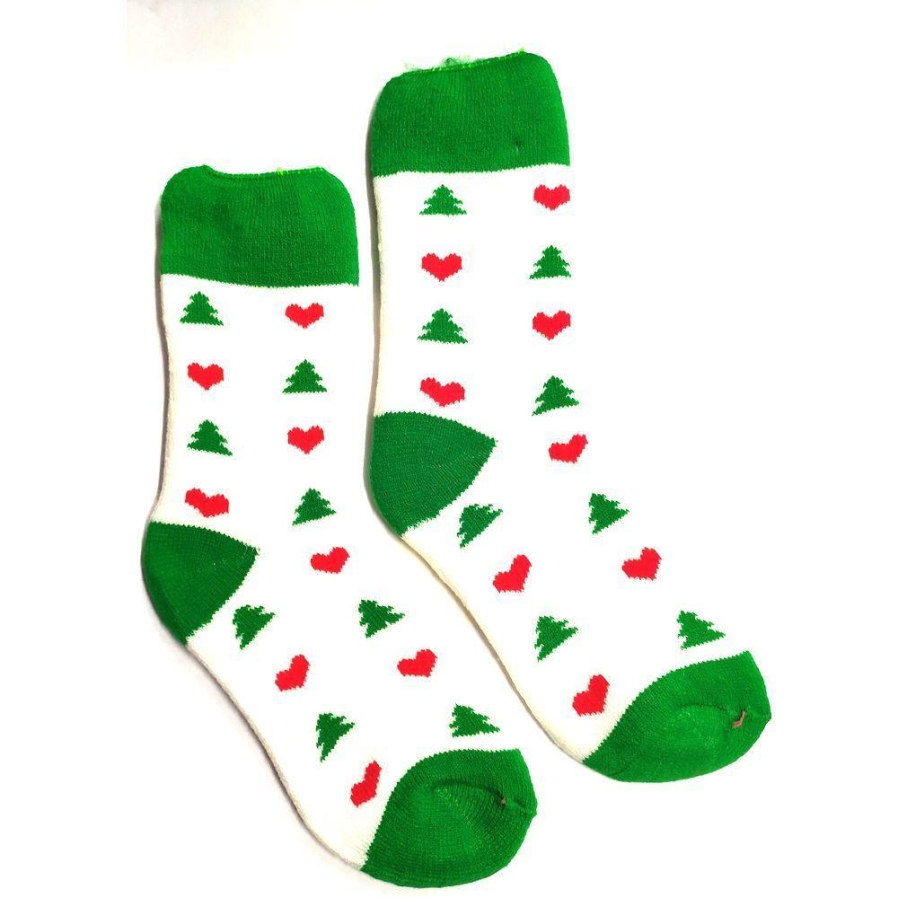 Новогодние носки утепленные