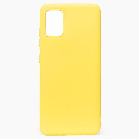 Чехол для Samsung (A515) Galaxy A51 Софт тач мягкий эффект | микрофибра желтый