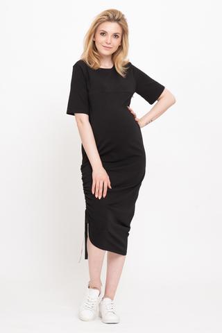 Платье для беременных и кормящих 12737 черный