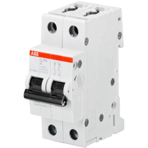 Автоматический выключатель 2-полюсный 2 А, тип Z, 6 кА S202 Z2. ABB. 2CDS252001R0278