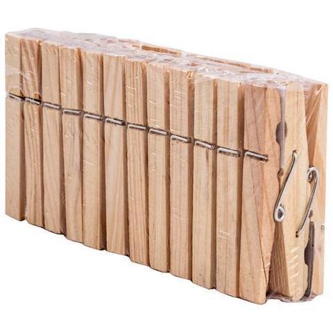 Прищепки д/белья деревянные PEG-W-S/24 в наборе по 24шт (дерево,металл)