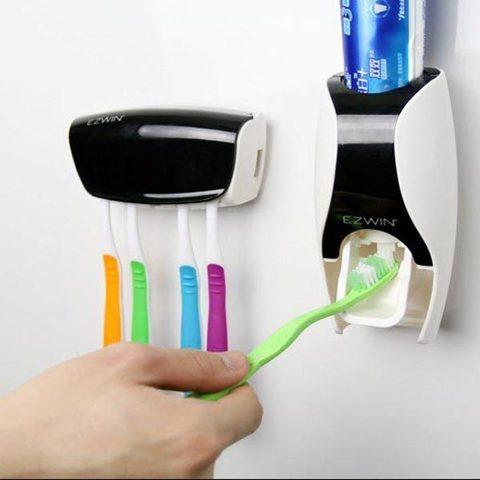 Дозатор зубной пасты и держатель для зубных щеток