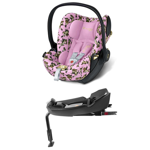 Комплект Cybex Cloud Q JS Cherubs Pink + Base fix