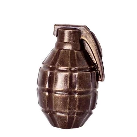 Пластиковая форма для шоколада муж. ГРАНАТА ВОЕННАЯ (80х60мм)