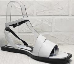 Кожаные сандалии босоножки белые женские Brocoli H1886-9165-S873 White.