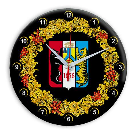Часы в стиле Хохлома сувенирные Хабаровск 03