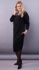 Орнелла. Стильна сукня для великих розмірів. Чорний.