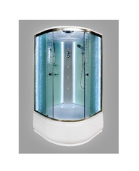 Душевая кабина DETO ЕМ4590 90х90 см с LED-подсветкой и гидромассажем