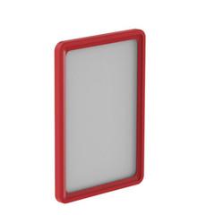 Рамка для ценникодержателей пластиковая А5 красная (10 штук в упаковке, артикул производителя 102005-06)