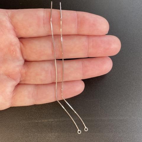 Швензы цепочки 10 см 1 пара серебро 925
