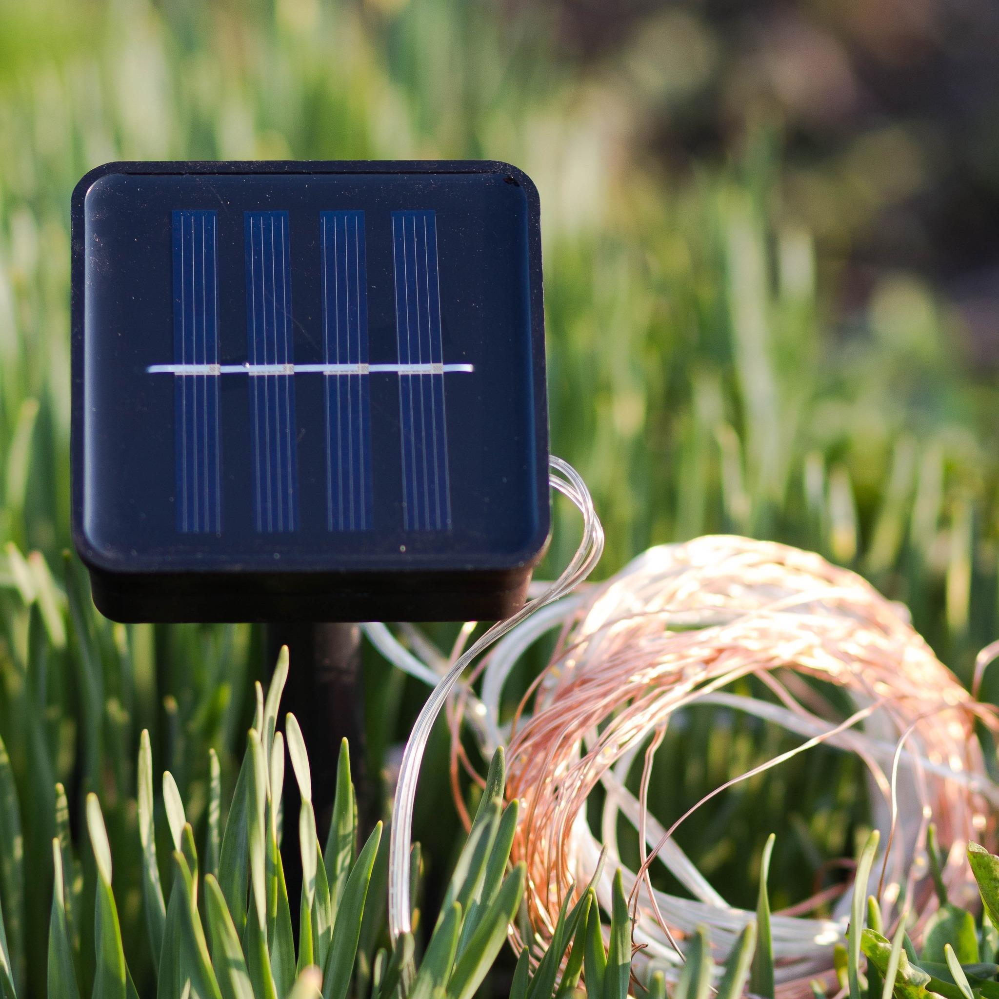Гирлянда-нить на солнечной батарее EPECOLED разноцветная (10 метров, 100LED)