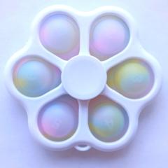Пупырка вечная антистресс simple dimple (симпл димпл) светящийся в темноте спиннер белый - 6 попов
