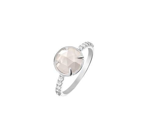 Кольцо с белыми топазами
