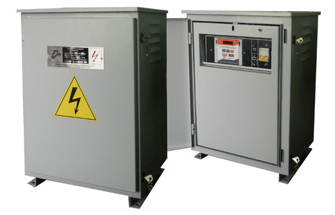 Compact automatic cathodic protection rectifier UKZT-AU OPE TM-GSM 1,2 Y1 with telemechanics controller