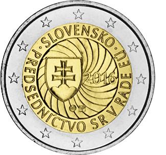 2 евро 2016 Словакия - Председательство в ЕС