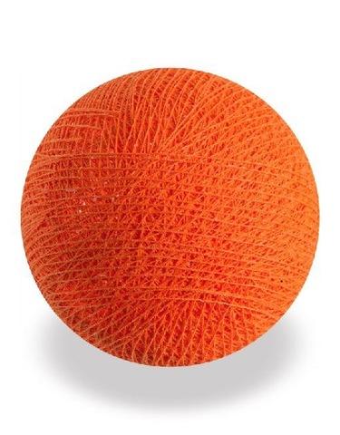 Хлопковый шарик оранжевый