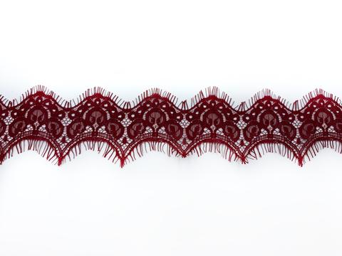 Кружево реснички бордо (6,5х305 см)