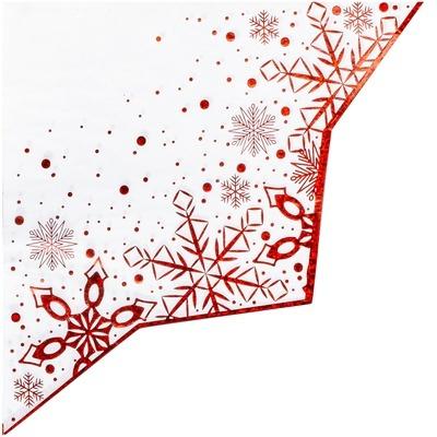 Салфетка фигурная Снежные Искры 33см 6шт фото № 2