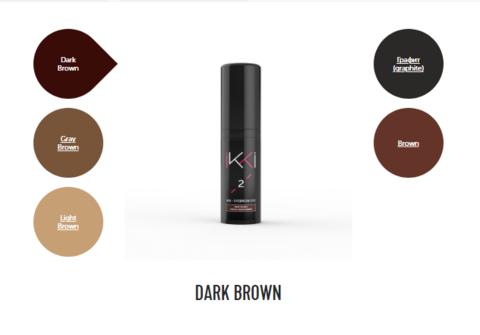 Гель-краска для бровей IKKI во флаконе (№2 темно-коричневый) 5мл