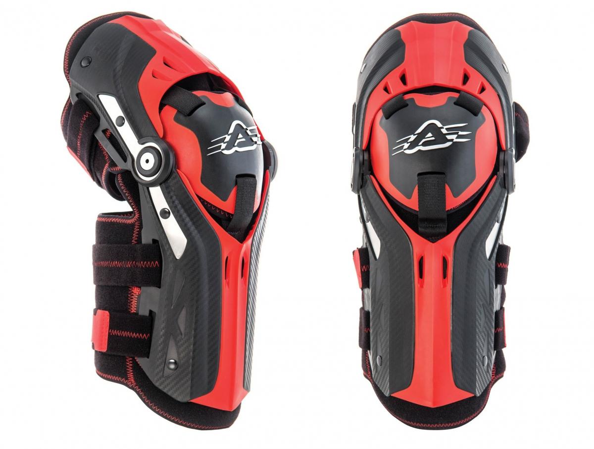 ACERBIS GORILLA KNEE GUARDS black/red