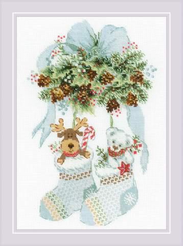 Набор для вышивания крестом «Мишка, шишки и олень» (1901)